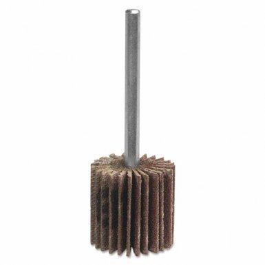 Merit Abrasives 8834137377 High Performance Mini Flap Wheels with Mounted Steel Shanks
