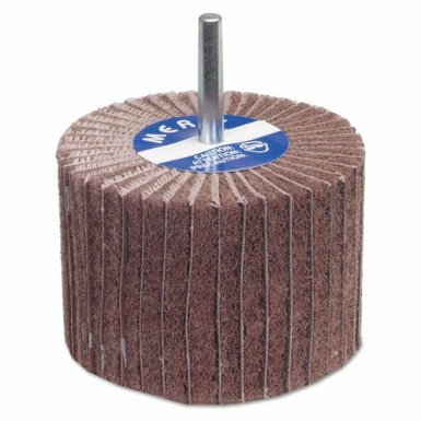 Merit Abrasives 8834138120 Interleaf Flap Wheels with Mounted Steel Shank