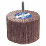 Merit Abrasives 8834138120 Interleaf Flap Wheels with Mounted Steel Shank