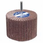 Merit Abrasives 8834138123 Interleaf Flap Wheels with Mounted Steel Shank
