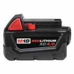 Milwaukee Electric Tools 48-11-1840 M18 REDLITHIUM XC 4.0 Extended Capacity Battery Packs