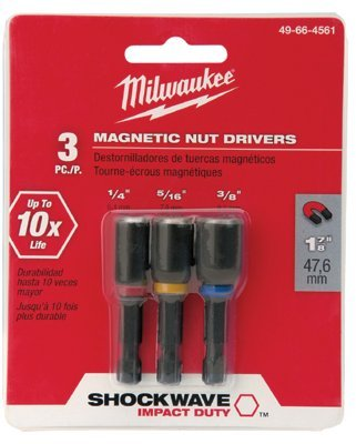 Milwaukee Electric Tools 49-66-4561 Shockwave Magnetic Nut Driver Sets