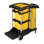 Newell Brands FG9T7300BLA Rubbermaid Commercial HYGEN Microfiber Cleaning Carts