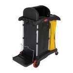 Newell Brands FG9T7500BLA Rubbermaid Commercial High Security Healthcare Cleaning Carts