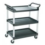 Newell Brands FG342488BLA Rubbermaid Commercial Three-Shelf Service Cart