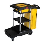 Newell Brands FG9T7200BLA Rubbermaid Commercial High Capacity Cleaning Carts