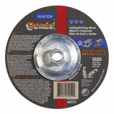 Norton 66252939259 Gemini Depressed Center Wheels