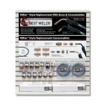 ORS Nasco MMDW1 Best Welds Miller Style Replacement MIG Guns and Consumables Displays