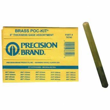 Precision Brand 76740 Brass Poc-Kit Thickness Gage Assortments