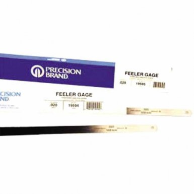 Precision Brand 19285 Flat Length Steel Feeler Gauges