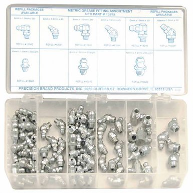 Precision Brand 13975 Metric Grease Fitting Assortments