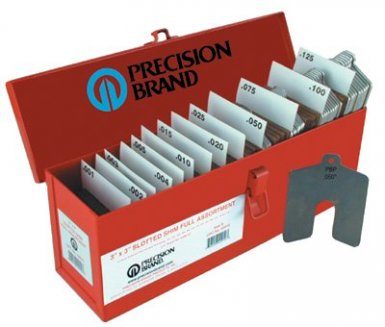 Precision Brand 42935 Slotted Shim Assortment Kits