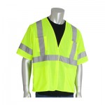 Protective Industrial Products, Inc. 303-HSVELY-6X ANSI Type R Class 3 Value Four Pocket Mesh Vests