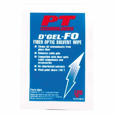 D'Gel-FO Fiber Optic Solvent Wipes