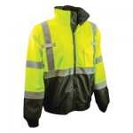 Radians SJ110B-3ZGS-M SJ110B Class 3 Two-in-One High Visibility Bomber Safety Jackets