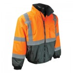 Radians SJ110B-3ZOS-L SJ110B Class 3 Two-in-One High Visibility Bomber Safety Jackets