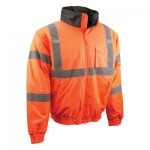 Radians SJ11Q-3ZOS-4X SJ11QB Class3 Hi-Viz Weather Proof Bomber Jackets with Quilted Built-in Liners