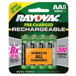 Rayovac LD715-8OP-GEND NiMH Pre-Charged Rechargeable Batteries