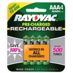 Rayovac LD724-4OP-GEND NiMH Pre-Charged Rechargeable Batteries