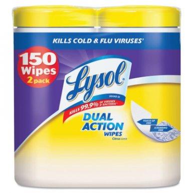 Reckitt Benckiser RAC84922CT LYSOL Brand Dual Action Disinfecting Wipes