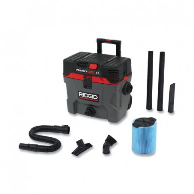 Ridge Tool Company 50328 Pro Pack Plus 10-gal Wet/Dry Vacuums Model 1000RV