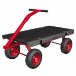 Rubbermaid Commercial 4477-BLA 5th Wheel Wagon Truck