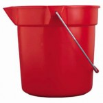 Rubbermaid Commercial 296300RED Brute Round Buckets