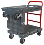 Rubbermaid Commercial 4497-BLA Convertible Platform Truck