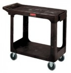 Rubbermaid Commercial 4505-BLA Flat Shelf Cart