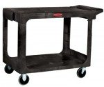 Rubbermaid Commercial 4545-BEIG Heavy-Duty Flat Shelf Utility Cart