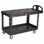 Rubbermaid Commercial 4545-BLA Heavy-Duty Flat Shelf Utility Cart