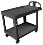 Rubbermaid Commercial 4546-BLA Heavy-Duty Lipped Shelves Utility Cart