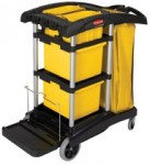 Rubbermaid Commercial 9T73 HYGEN Microfiber Cleaning Carts