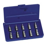 Rubbermaid Commercial 53226 Irwin Hanson Hex Head Multi-Spline Screw Extractors - 532 Series - Plastic Case Sets