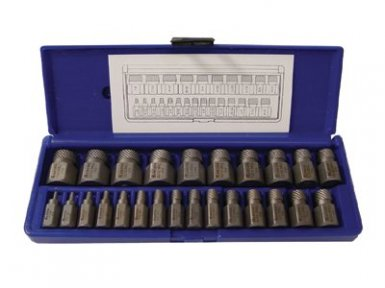 Rubbermaid Commercial 53227 Irwin Hanson Hex Head Multi-Spline Screw Extractors - 532 Series - Plastic Case Sets