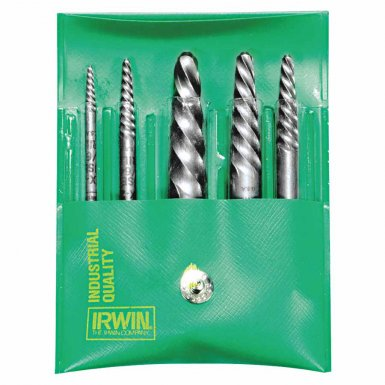 Rubbermaid Commercial 53545 Irwin Hanson Spiral Flute Screw Extractors - 535/524 Series Sets