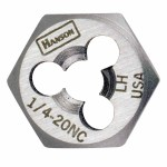 Rubbermaid Commercial 7244 Irwin Hanson Re-threading Hexagon Fractional Dies Right & Left-hand (HCS)