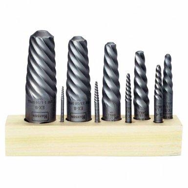 Rubbermaid Commercial 52425 Irwin Hanson Spiral Flute Screw Extractors - 535/524 Series Sets