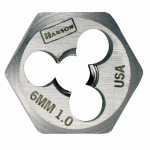 Rubbermaid Commercial 6312 Irwin Hanson High Carbon Steel Metric Hexagon Dies