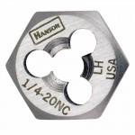 Rubbermaid Commercial 7254 Irwin Hanson Re-threading Hexagon Fractional Dies Right & Left-hand (HCS)