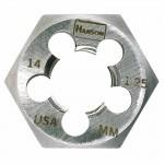Rubbermaid Commercial 7349 Irwin Hanson Re-threading Hexagon Metric Dies Right & Left-hand (HCS)