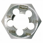 Rubbermaid Commercial 7358 Irwin Hanson Re-threading Hexagon Metric Dies Right & Left-hand (HCS)