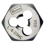 Rubbermaid Commercial 7748 Irwin Hanson Re-threading Hexagon Fractional Dies Right & Left-hand (HCS)