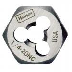 Rubbermaid Commercial 7761 Irwin Hanson Re-threading Hexagon Fractional Dies Right & Left-hand (HCS)
