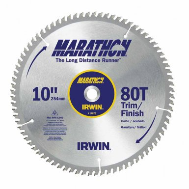 Rubbermaid Commercial 14076LWC Irwin Marathon Miter / Table Saw Blades