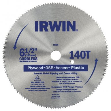 Rubbermaid Commercial 11820 Irwin Steel Circular Saw Blades