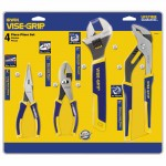 Rubbermaid Commercial 2078705 Irwin Vise-Grip 4-pc ProPlier Sets - Long Nose / Slip Joint / Adjustable Wrench / Groove Joint