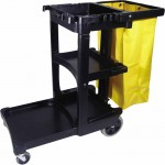 Rubbermaid Commercial 6173-88-BLA Janitor Cart/Cleaning Trolley