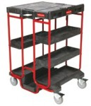 Rubbermaid Commercial 9T5700BLA Ladder Cart