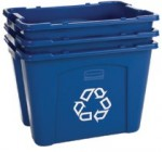 Rubbermaid Commercial 571473BLUE Recycling Boxes